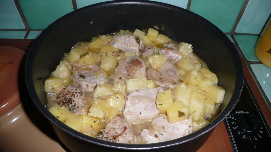 Filet mignon à l'ananas et au poivre vert