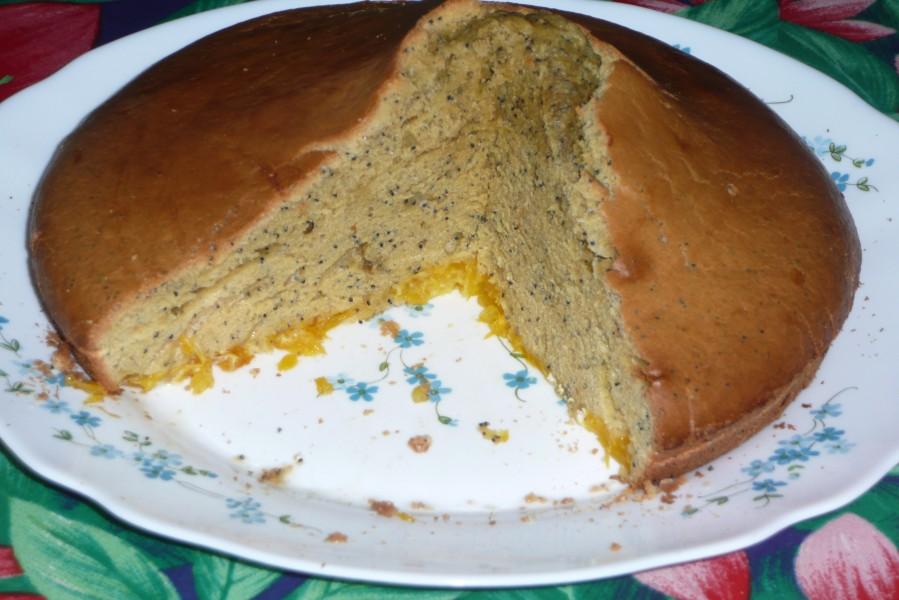 Gâteau à l'orange et aux graines de pavot