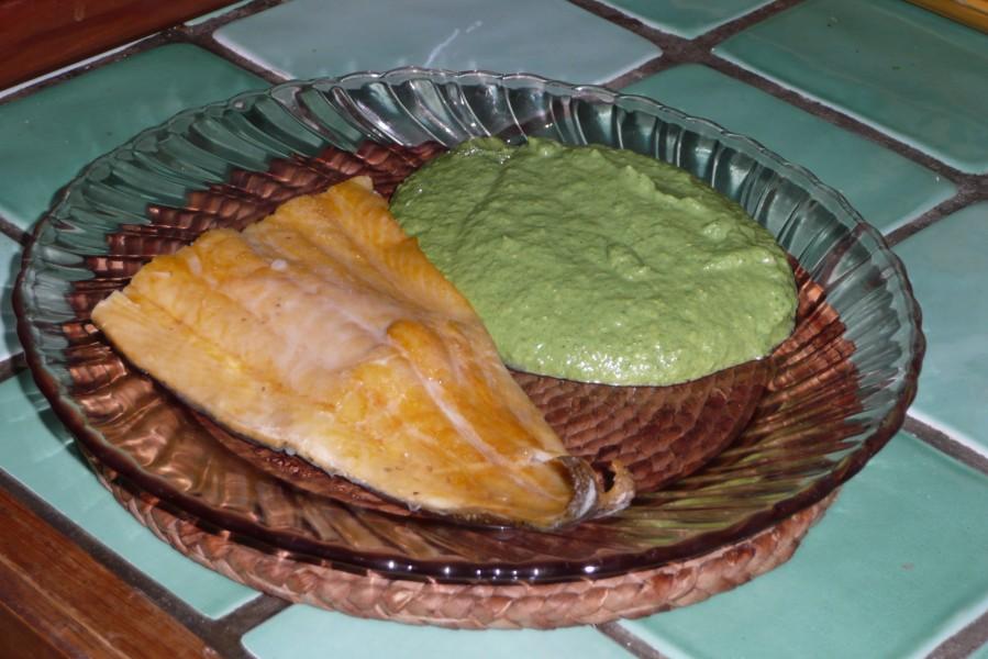 Green sauce pour poisson