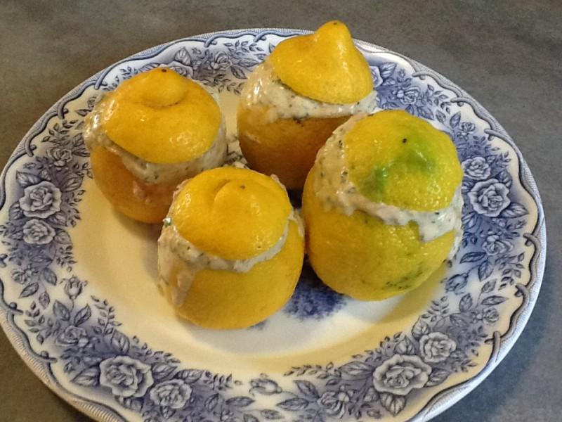 Citrons farcis au thon
