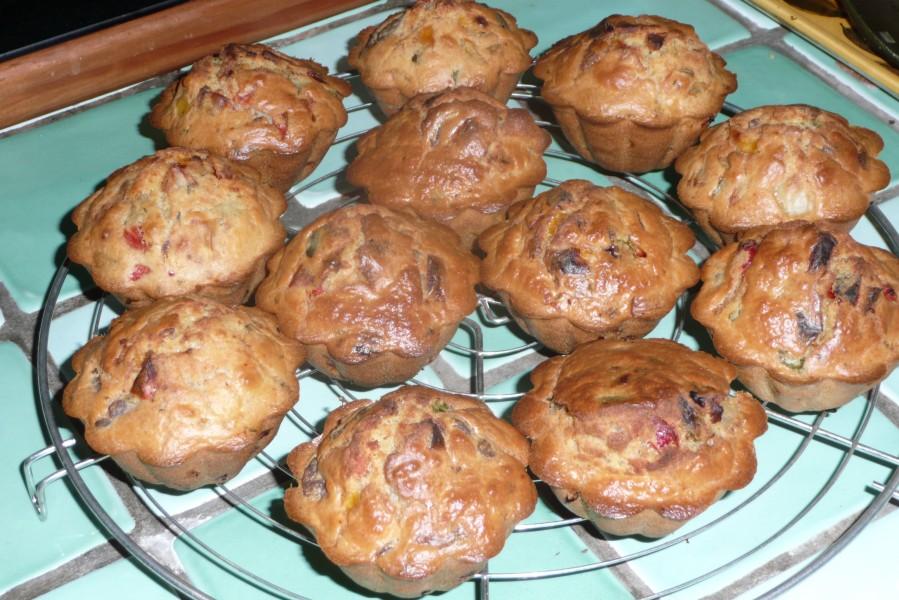 Muffins au canard et aux poivrons