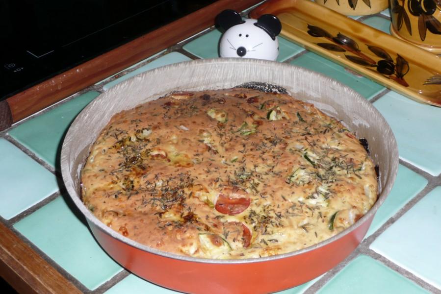 Quiche sans pâte au tofu soyeux et aux légumes