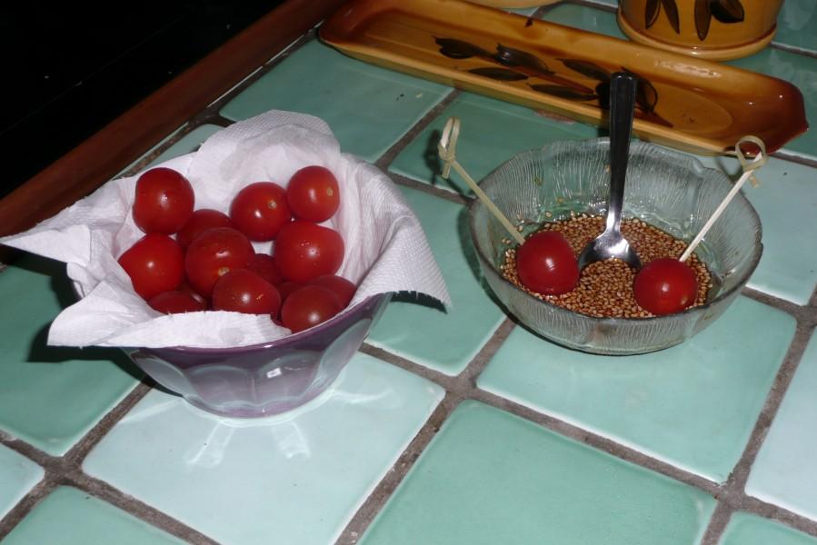 Tomates version sucrée-salée pour l'apéritif
