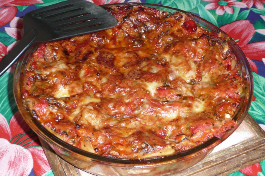 Gratin de lasagnes au Tempeh