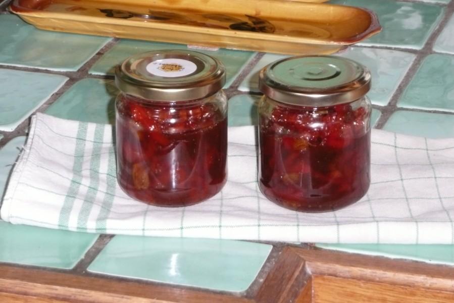 Confiture de poivrons rouges