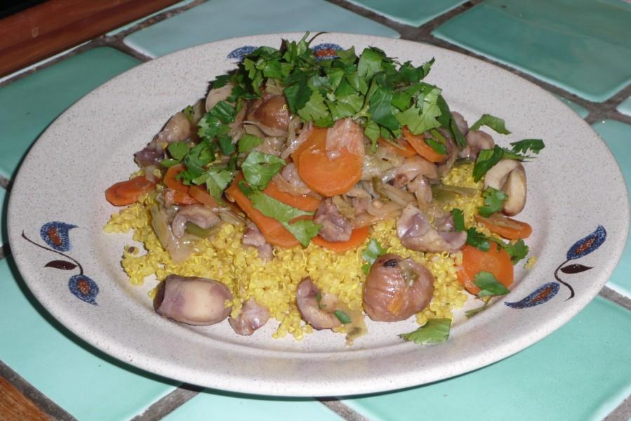 Couscous de quinoa aux châtaignes