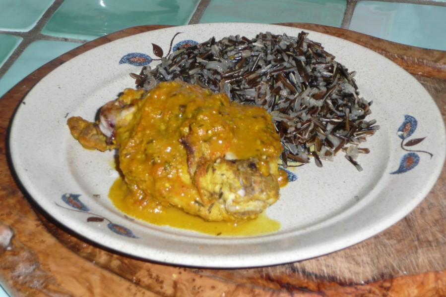 Lapin à l'orange et au curry
