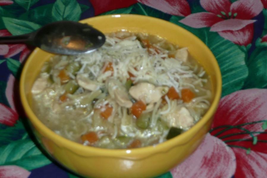 Soupe de poulet aux pâtes à potage