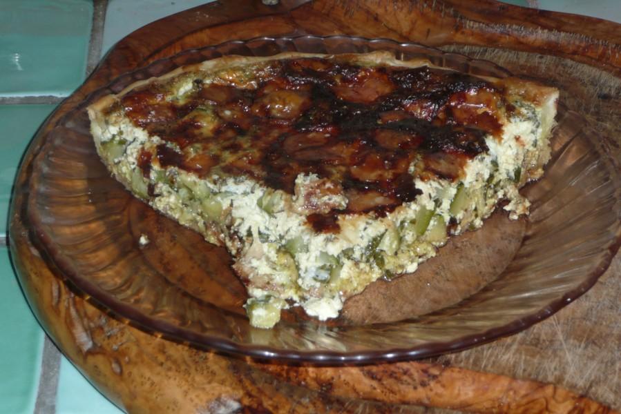 Tarte à la courgette, mozzarella et parmesan