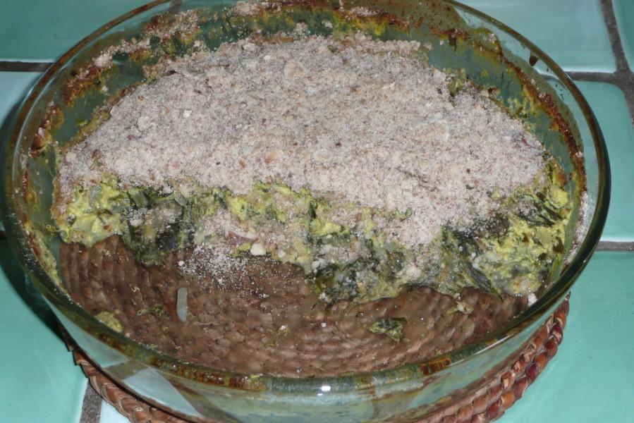 Quiche aux herbes du jardin et à la fourme d'Ambert