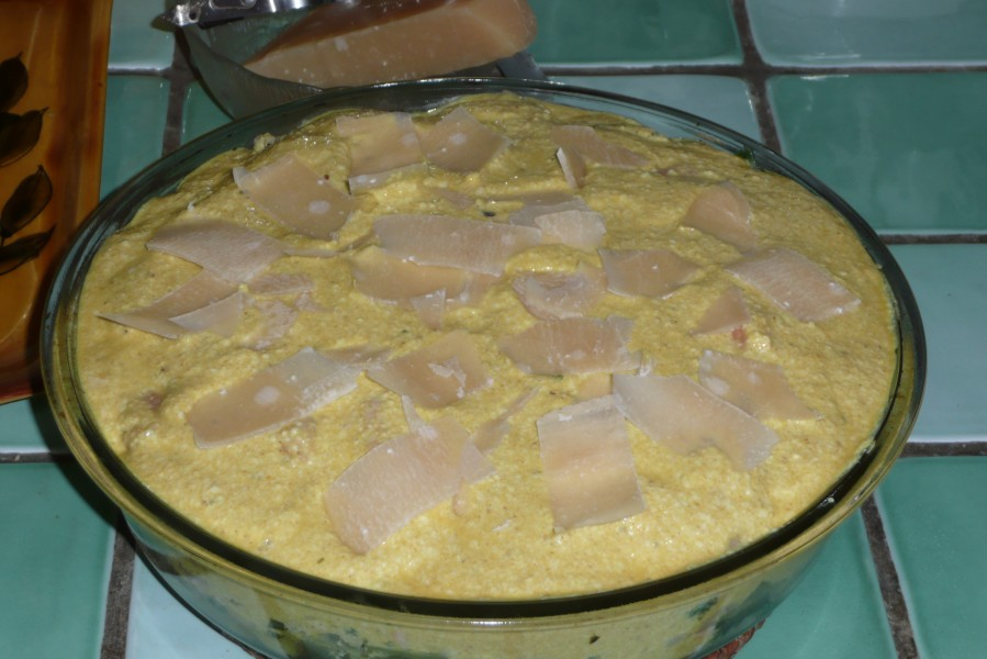 Gratin cabillaud, saumon et crevettes au tofu soyeux