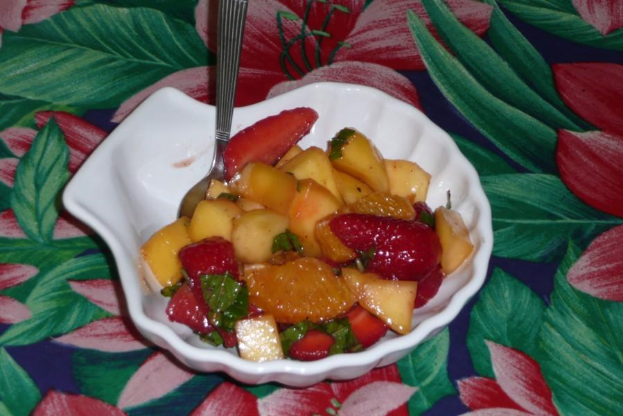 Salade épicée aux fraises