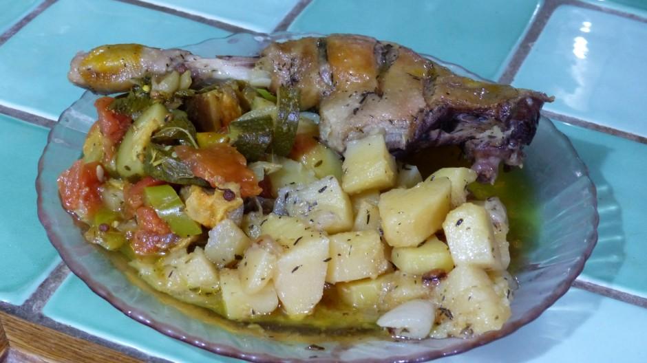 Cuisses de canard aux pommes de terre
