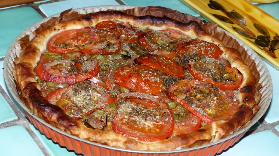 Tarte à la tomate épicée
