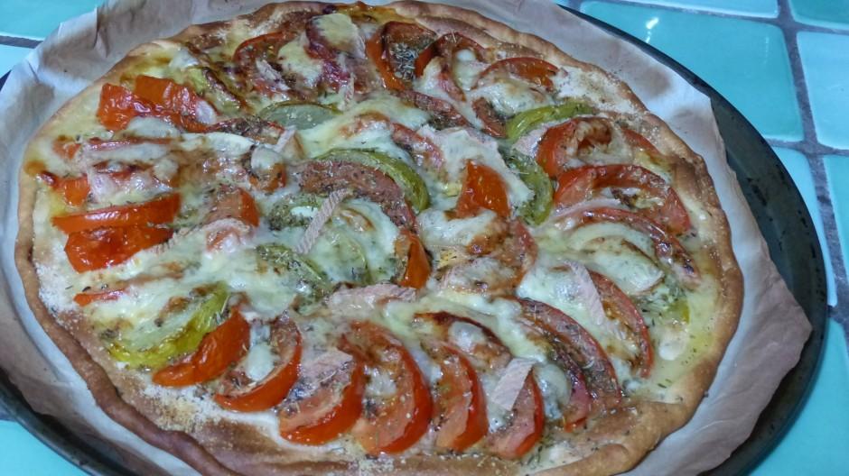 Pizza tomates et Maroilles