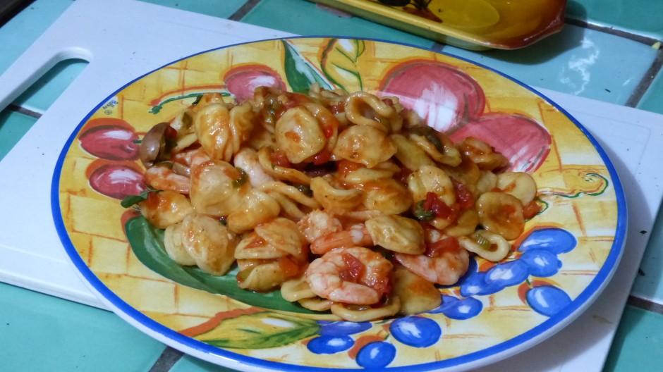 Orecchiette aux crevettes