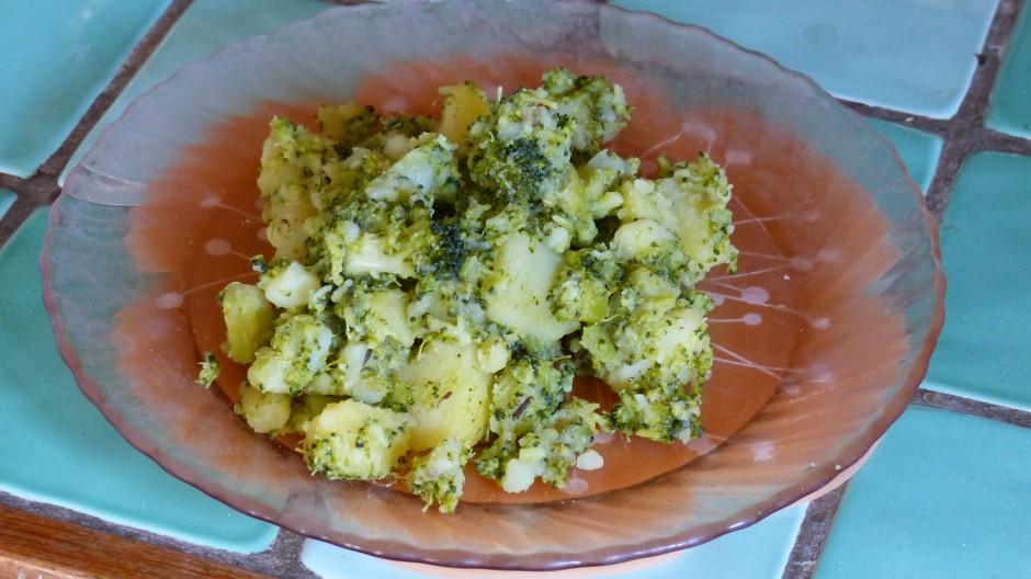 Pommes de terre aux brocolis