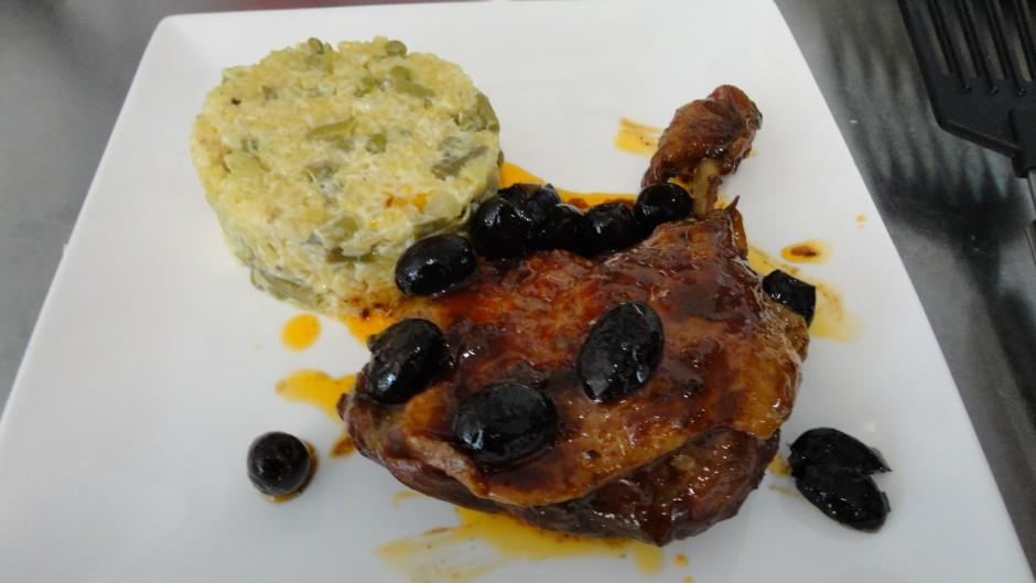 Cuisse de canard aux olives