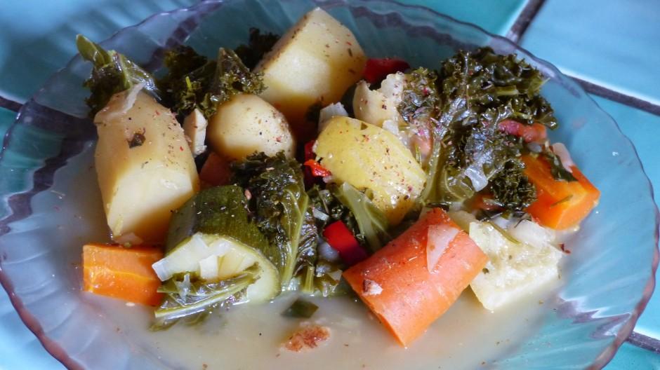 Cocotte-minute de légumes au chou kalé