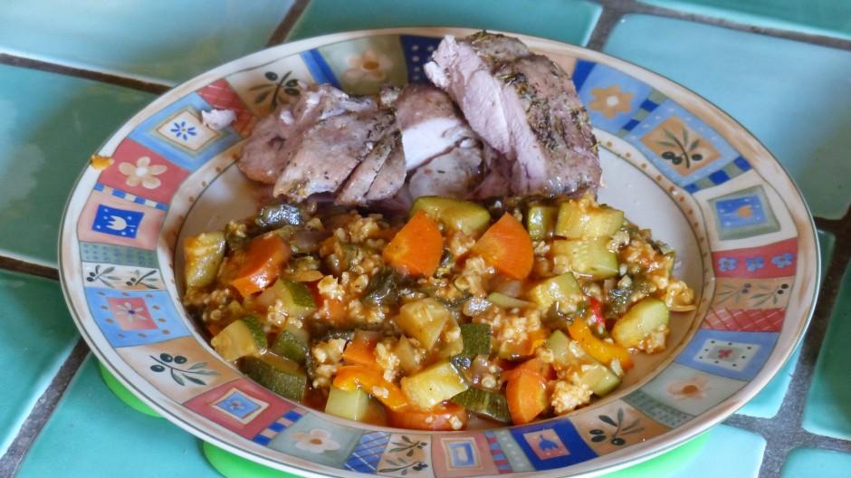 Légumes aux orties et aux flocons d'avoine