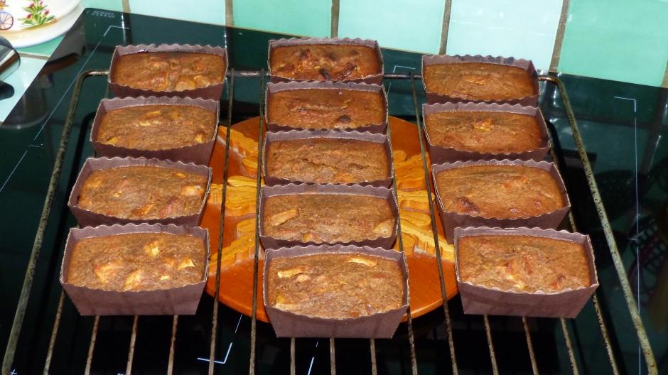 Mini cakes pudding aux pommes