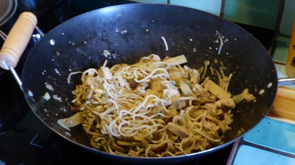 Wok de dinde aux nouilles chinoises