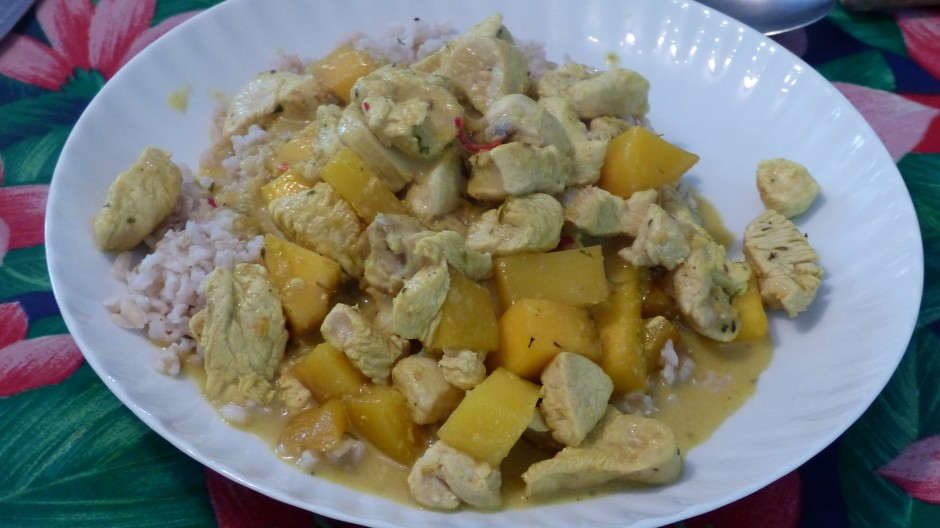 Curry de dinde à la mangue