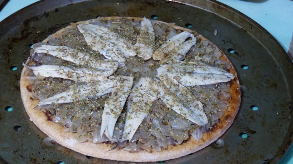 Pizza à l'oignon doux des Cévennes
