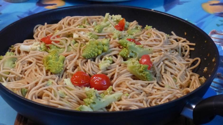 Spaghettis au chou romanesco