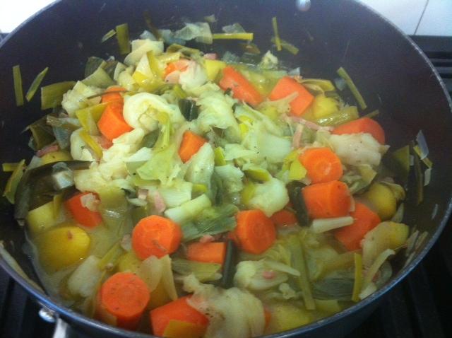 Légumes d'hiver à l'étouffée
