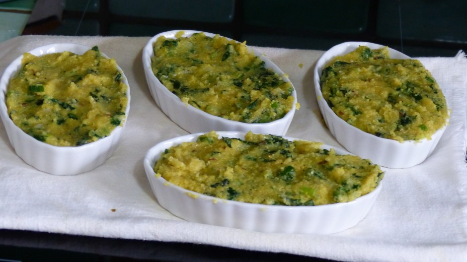 Galette de polenta aux orties