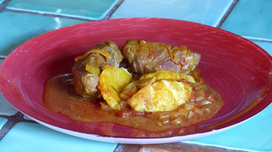 Mitonnée de joues de porc au curry