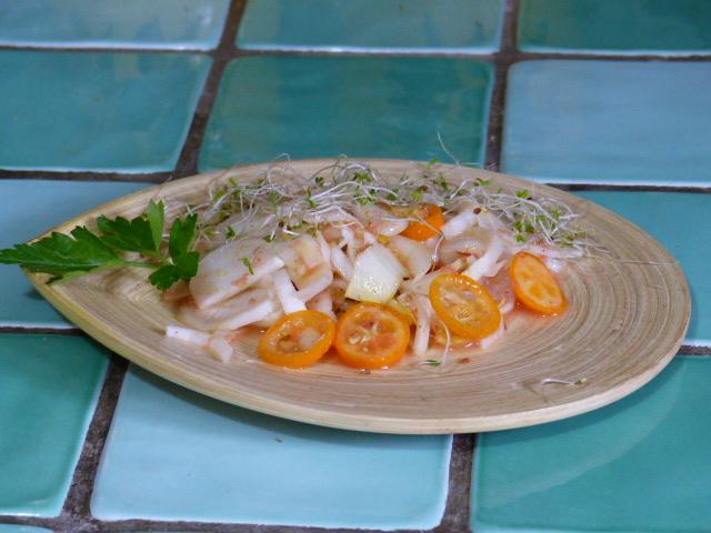 Salade d'endive au jus de pamplemousse