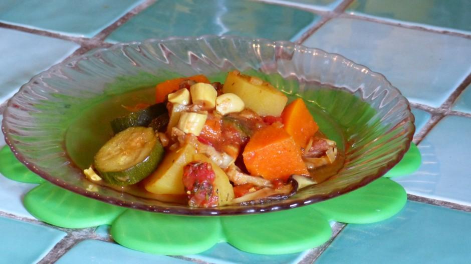 Cocotte de légumes au citron confit