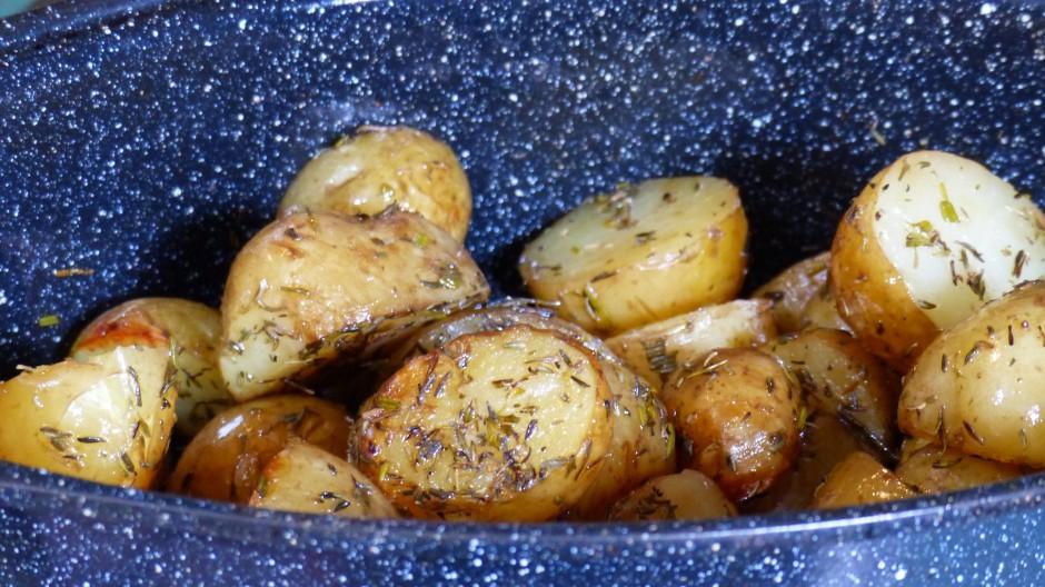 Pommes de terre nouvelles de Noirmoutier au Roaster