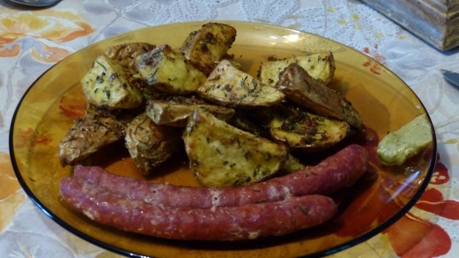 Pommes de terre au four et aux herbes