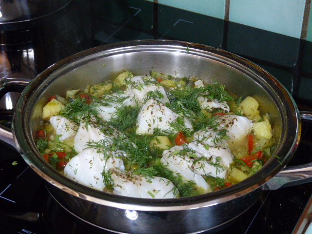 Cabillaud aux légumes