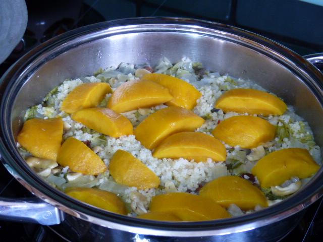 Chou chinois et millet à la mangue
