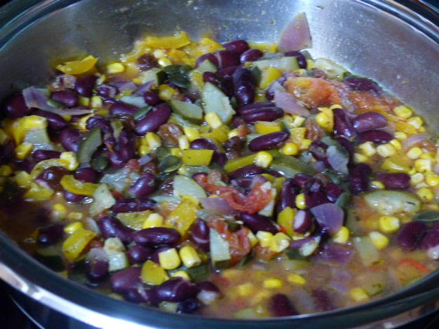 Haricots rouges et maïs vegan