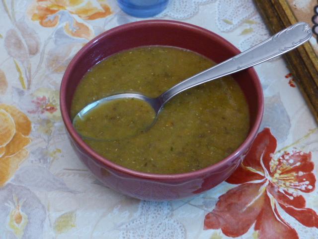 Soupe de légumes aux lentilles
