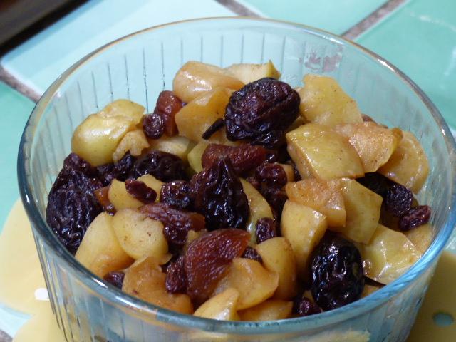 Compotée de pommes et fruits séchés