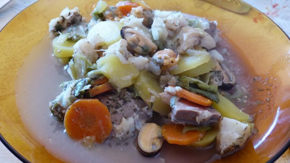 Cocotte de la mer aux pommes de terre