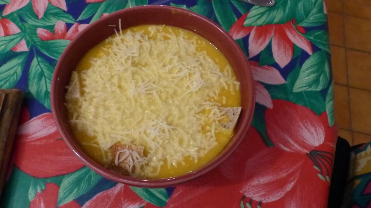 Soupe de butternut aux carottes
