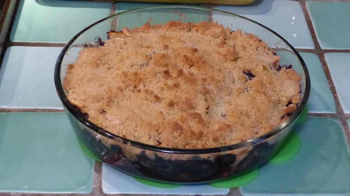 Crumble de pommes myrtilles
