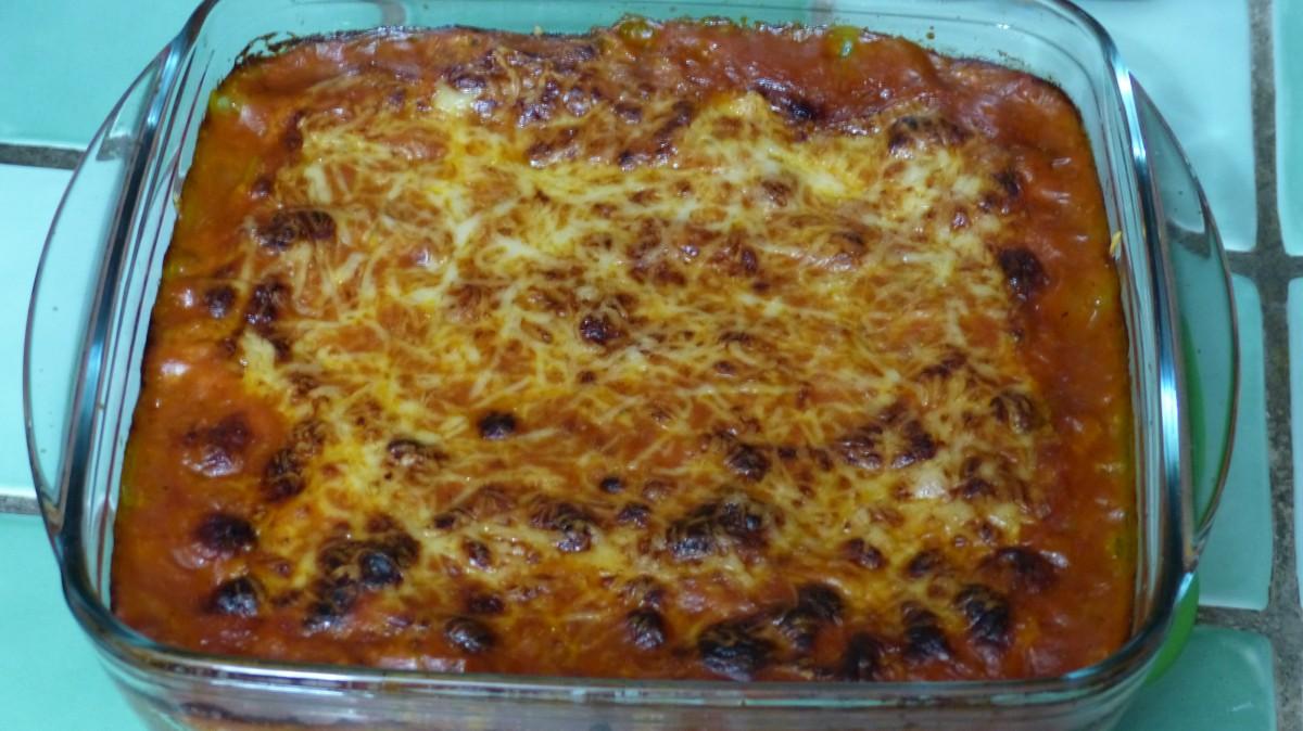 Lasagnes aux courgettes et aux marrons