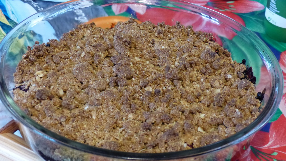 Crumble sans gluten aux fruits rouges