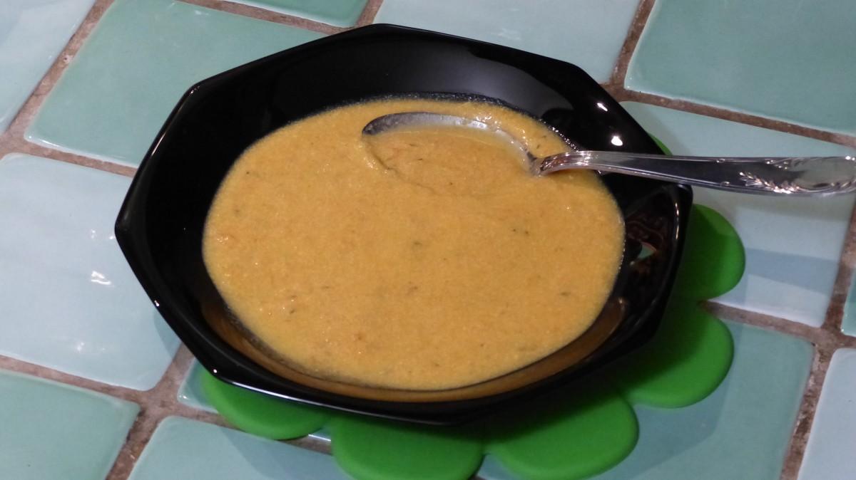 Soupe de carottes et patate douce à la Brousse de brebis