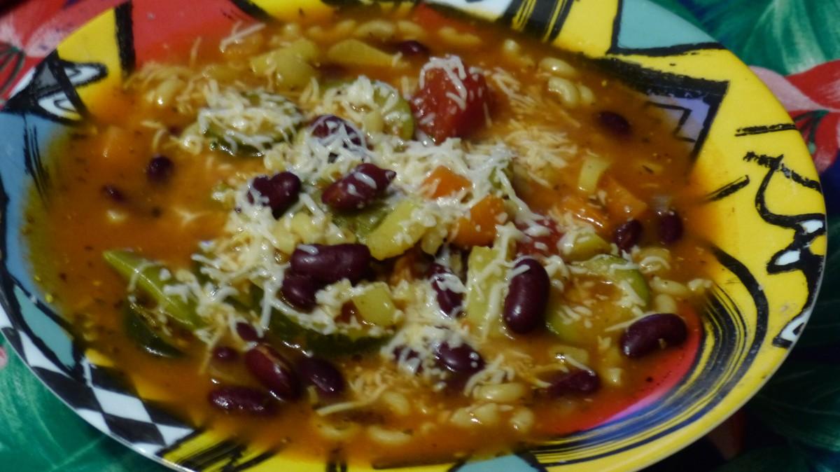 Soupe minestrone, vs confinement