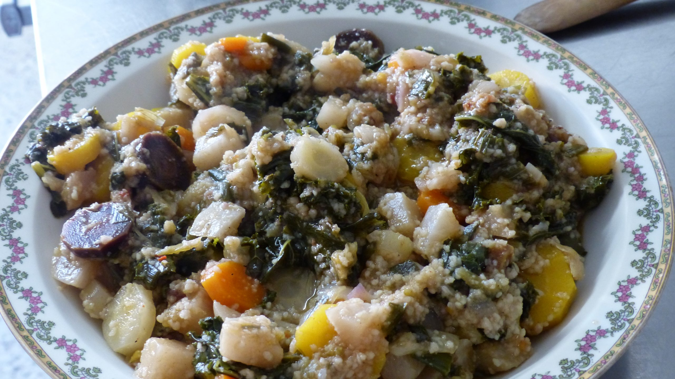 Marmite de choux kalé aux légumes de printemps