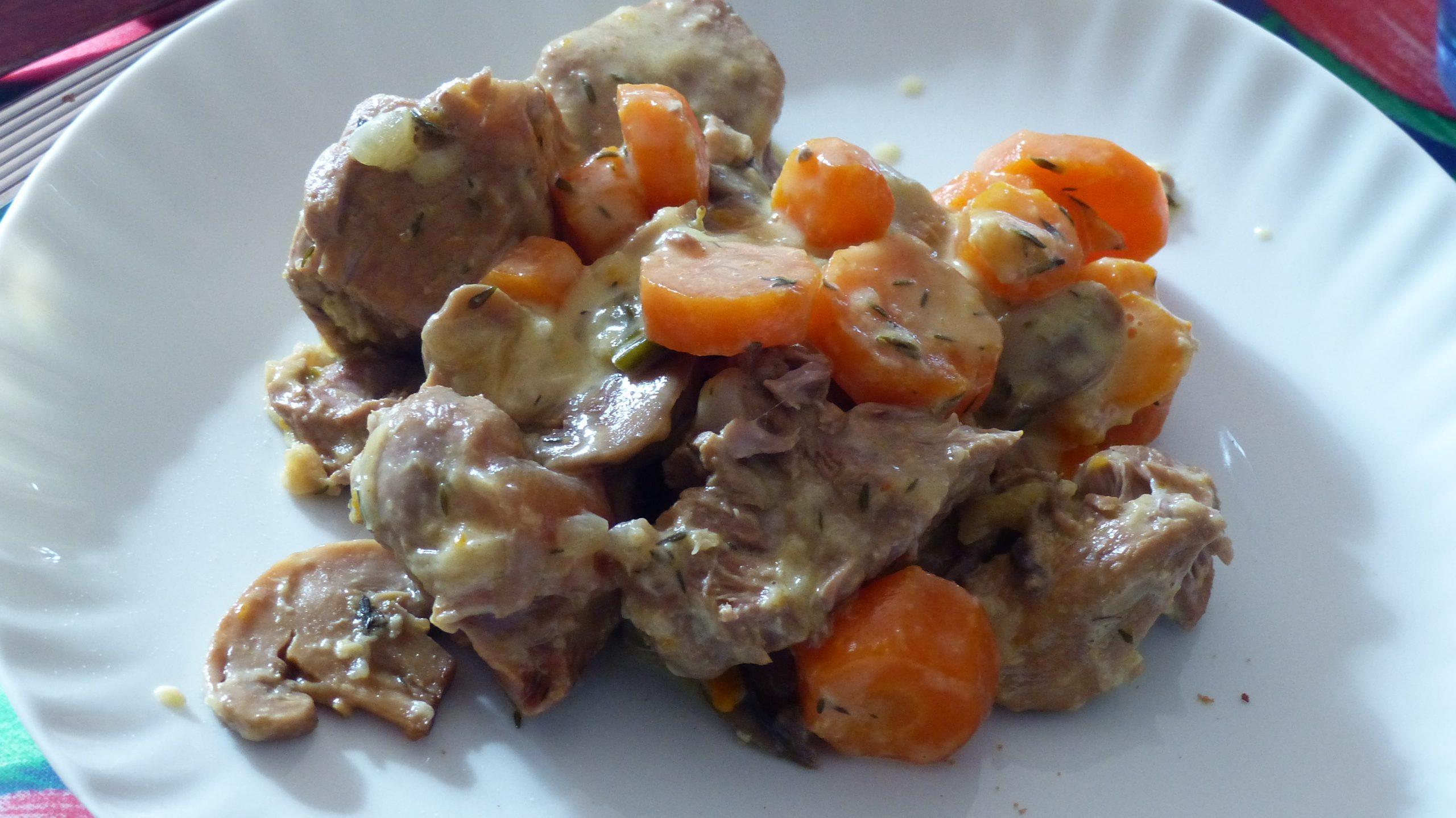 Blanquette de veau au multi cuiseur